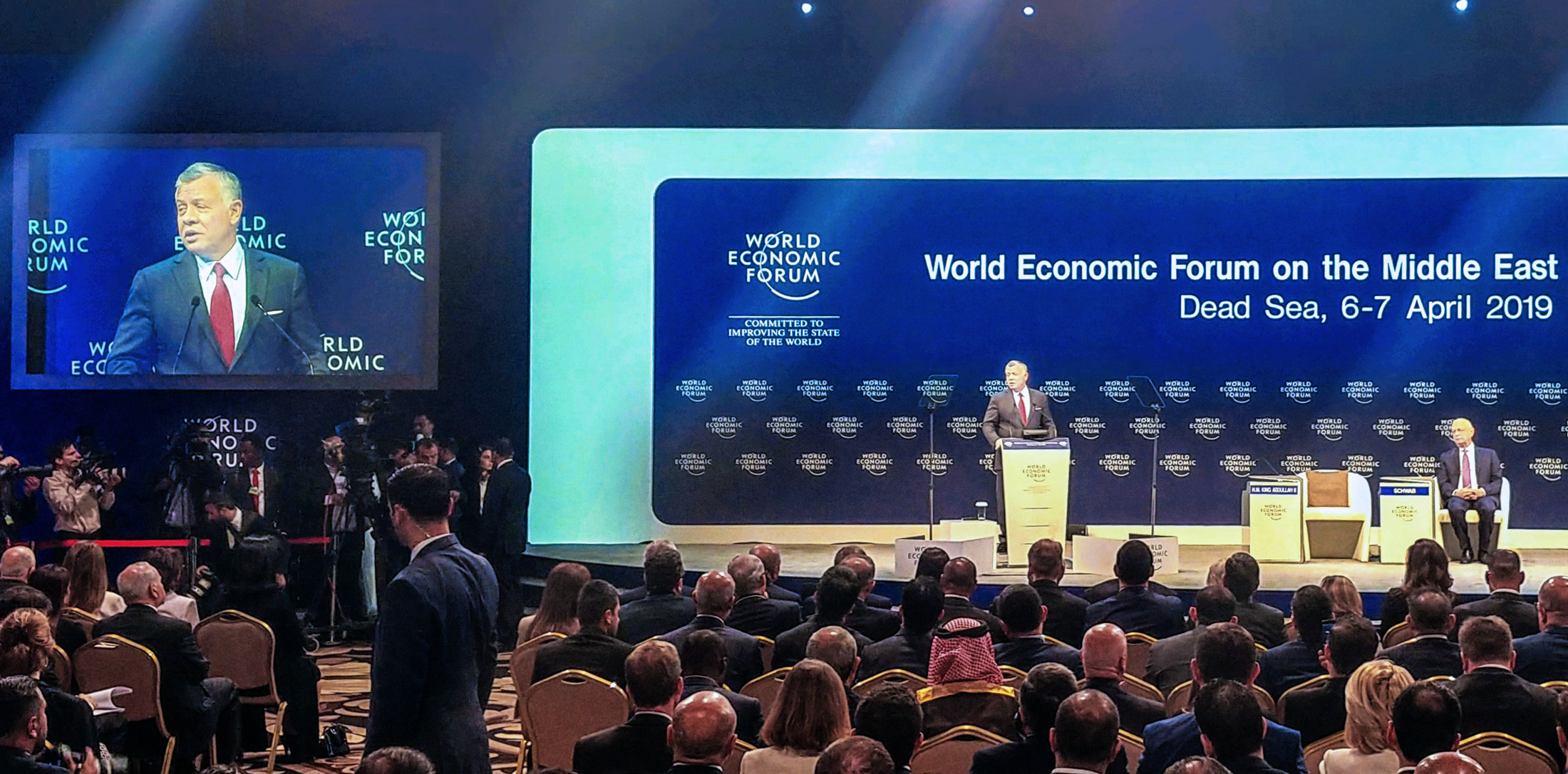 King Abdullah II of Jordan addressing the World Economic Forum at the Dead Sea
