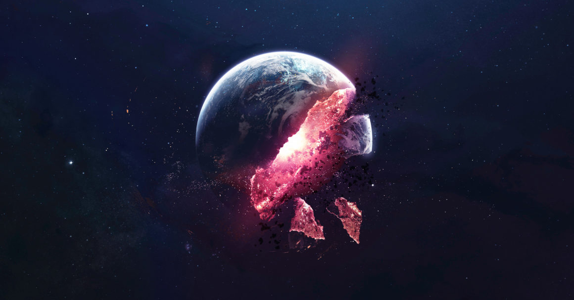 Earth being destroyed
