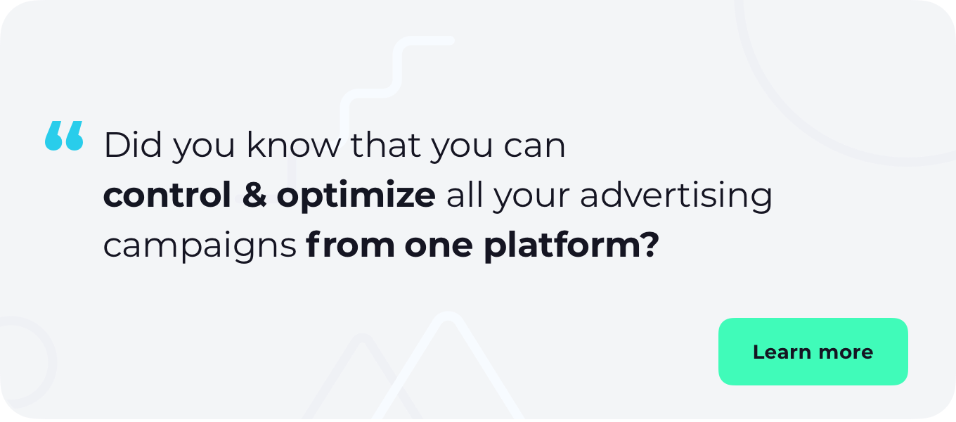 track, optimize, and manage your campaigns from one platform with Voluum